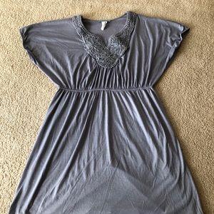 ESPRESSO GRAY SHORT SLEEVE DRESS SIZE 3X
